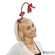 mistletoe hat me mistletoe toe boppers co uk toys