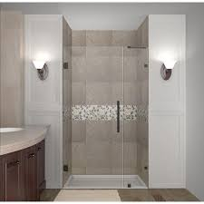 38 Shower Door Aston Nautis 38 In X 72 In Completely Frameless Hinged Shower