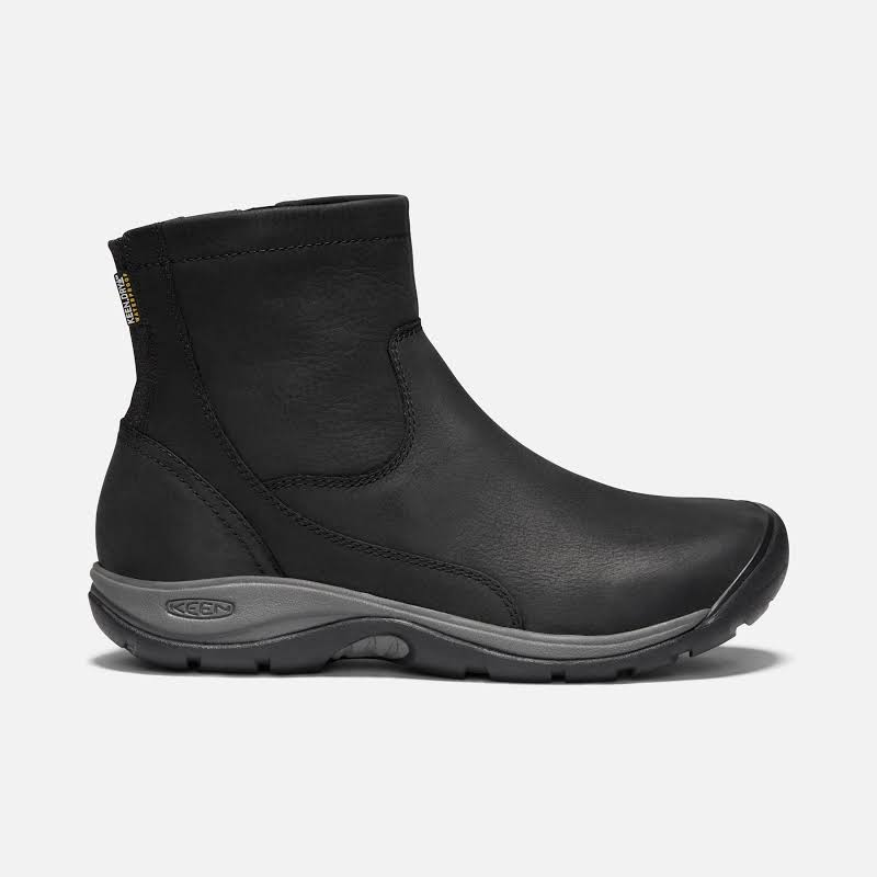 KEEN Presidio II Waterproof Zip Boot Black