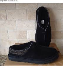 ugg neuman slippers on sale cheap casual shoes ugg neuman black suede sheepskin slippers us 10
