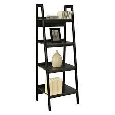 decorating using stunning leaning ladder shelf for modern home