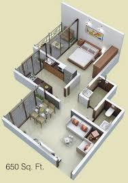 Home Design For 650 Sq Ft 650 Sq Ft 1 Bhk 1t Apartment For Sale In Siddhitech Homes Siddhi