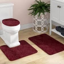 Shag Bathroom Rug Burgundy Bathroom Rugs Wayfair