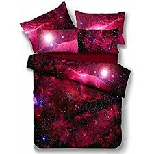amazon com alicemall blue galaxy bedding sets twin polyester 4