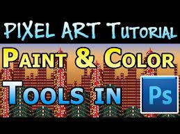 pixel art tutorial paint u0026 color tools in photoshop youtube