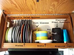 Kitchen Cabinet Organization Airstream Kitchen Cabinet Organization My Airstream Pinterest