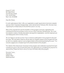 sponsorship proposal letter template best template collection