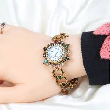 antique bracelet vintage images 2018 new fashion antique gold resin crystal retro alloy electronic jpg