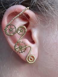 wire ear cuffs wire wrapped ear cuff by hiddendemon 666 on deviantart