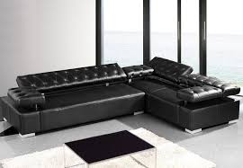 Black Leather Sectional Sofa Furniture Surprising Picture Of In Concept Gallery Black Leather