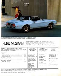 1972 ford mustang grande 1972 mustang specs colors facts history and performance