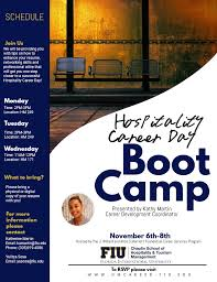 Fiu Resume Hospitality Career Day Boot Camp U2013 Chaplin Of Hospitality