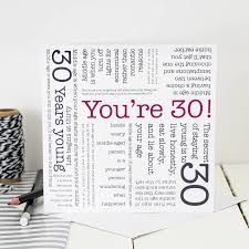 30th birthday card u0027you u0027re 30 u0027 quotes by coulson macleod