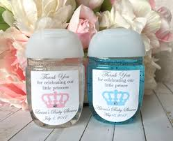 little prince baby shower labels small hand sanitizer