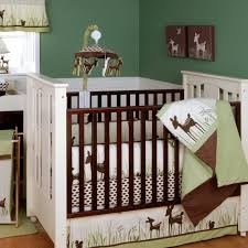 wood partition cute white painted mahogany wood baby crib with brown varnished