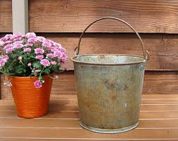 Tin Buckets For Centerpieces by Tin Bucket Etsy