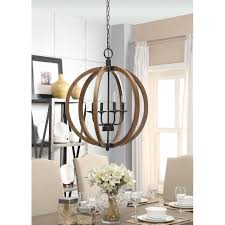 Orb Chandeliers Vineyard Distressed Mahogany And Bronze 4 Light Orb Chandelier