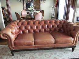 Distressed Chesterfield Sofa Hancock Distressed Saddle Brown Leather Chesterfield Sofa