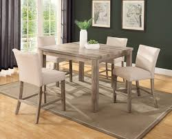 dining room sets with fabric chairs union rustic shaunda casual 5 piece counter height dining set