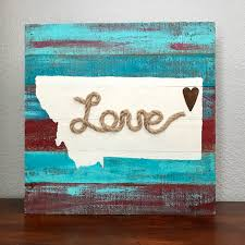 montana home decor turquoise and red montana love sign rustic home decor true