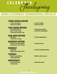 thanksgiving planning checklist kahns catering