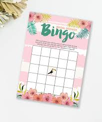 bridal shower gift bingo luau bingo bridal shower bingo luau bridal shower bingo