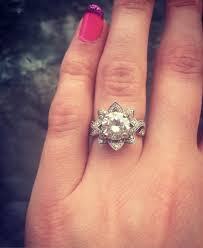 flower engagement rings lotus flower engagement ring