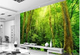 Tree Wall Murals Sunny Forest Tree View Tv Background Wall Mural 3d Wallpaper 3d