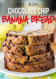 one bowl chocolate chip banana bread i wash you dry