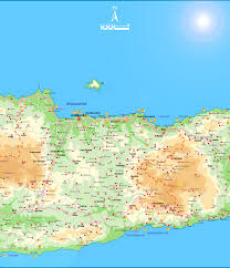 Map Of Italy And Greece by Large Map Of East Crete 1 Sfakia Crete Com