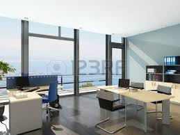Modern Office Interior Large Modern Office With Open Space To Work Stock Photo Picture
