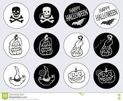 stickers for the holiday halloween stock vector image 77183644