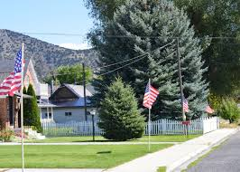 local authors the idaho enterprise boy scouts place flags in front of malad homes in memory of 9 11