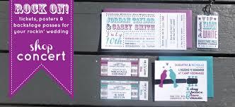 concert ticket wedding invitations tbrb info