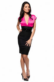 in satin blouses fitted career satin blouse pencil knee length dress
