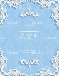Invitation Card Background Design Vector Blue Floral 3d Background Template For Invitation Cards