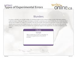 writing lab reports and scientific papers write online lab report writing guide parts of a lab report lab report types of experimental errors