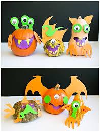 easy mix and match monster pumpkins fun no carve pumpkin