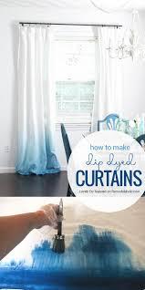make your own ombre dip dye curtains dip dye curtains dye