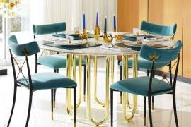 Dining Table For 20 20 Sleek Stainless Steel Dining Tables
