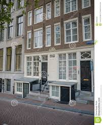 typical canal house on herengracht in amsterdam editorial stock