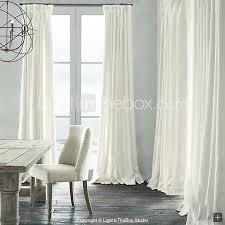 Bellagio Linen Drapery Panels Room Darkening Natural Linen White Curtain Two Panels 72 X 84