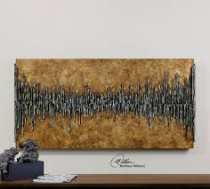 Uttermost Decor Uttermost Dimensional City View The Wooden Backboard Has A Golden
