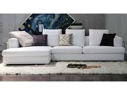 canapé blanc d angle un canapé d angle en tissu irrésistible qui égayera à coup sûr