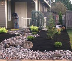 Rock Backyard Landscaping Ideas Small Front Yard Landscaping Ideas With Rocks Elabrazo Info
