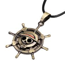 One Piece Flags 2016 Fashion Pirate Flag Logo Metal Jolly Roger Necklace Anime One