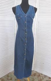 vintage denim maxi dress 90s grunge denim by marjoriesmemories