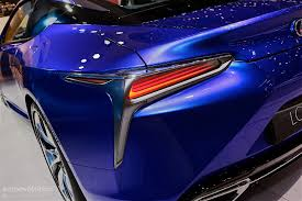 new lexus hybrid coupe 2016 lexus lc500h shows up in stunning blue exterior in geneva is