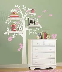 shelf tree wall decal