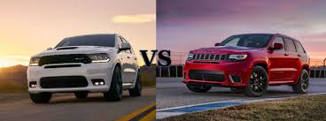 jeep grand or dodge durango 2018 dodge durango srt vs jeep grand trackhawk